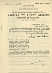 Admiralty Fleet Orders 1945 - 5883-5909
