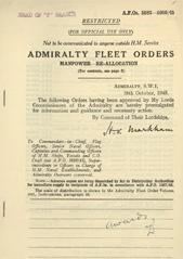 Admiralty Fleet Orders 1945 - 5883-5909