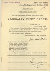 Admiralty Fleet Orders 1945 - 5910-6032