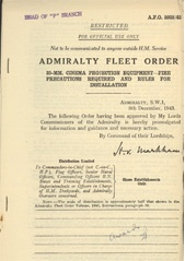Admiralty Fleet Orders 1943 - 5938