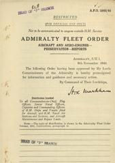 Admiralty Fleet Orders 1944 - 5968