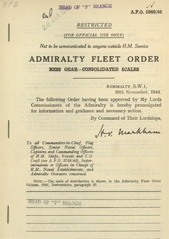 Admiralty Fleet Orders 1944 - 5969