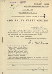 Admiralty Fleet Orders 1944 - 5970-6123