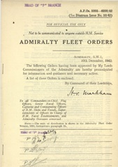 Admiralty Fleet Orders 1942 - 5993-6098