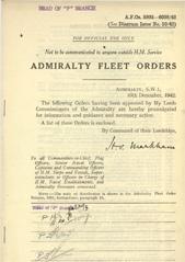 Admiralty Fleet Orders 1942 - 5993-6098