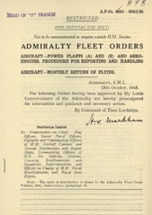 Admiralty Fleet Orders 1945 - 6051-6052