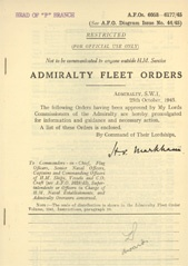 Admiralty Fleet Orders 1945 - 6053-6177