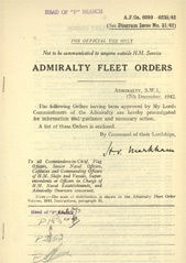 Admiralty Fleet Orders 1942 - 6099-6235