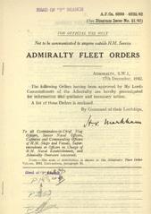 Admiralty Fleet Orders 1942 - 6099-6235