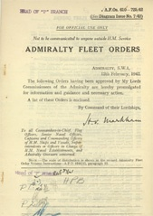 Admiralty Fleet Orders 1942 - 610-725