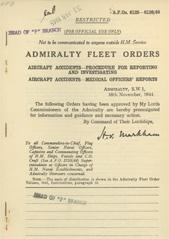 Admiralty Fleet Orders 1944 - 6125-6126