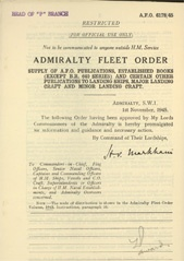 Admiralty Fleet Orders 1945 - 6178
