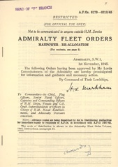 Admiralty Fleet Orders 1945 - 6179-6219