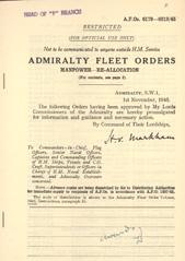 Admiralty Fleet Orders 1945 - 6179-6219