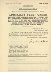Admiralty Fleet Orders 1943 - 6194