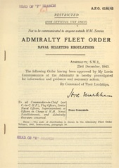 Admiralty Fleet Orders 1943 - 6195