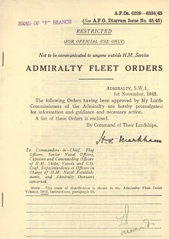 Admiralty Fleet Orders 1945 - 6220-6334