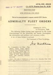 Admiralty Fleet Orders 1945 - 6220-6334