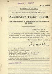 Admiralty Fleet Orders 1942 - 6236