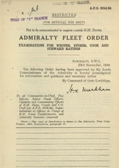 Admiralty Fleet Orders 1944 - 6243