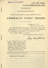 Admiralty Fleet Orders 1944 - 6245-6360
