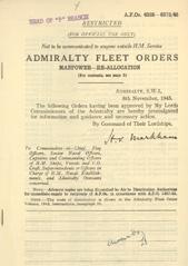 Admiralty Fleet Orders 1945 - 6335-6373