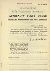 Admiralty Fleet Orders 1942 - 6356