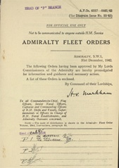 Admiralty Fleet Orders 1942 - 6357-6461