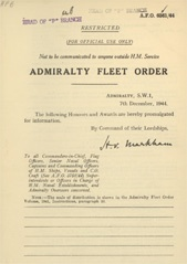 Admiralty Fleet Orders 1944 - 6361
