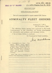 Admiralty Fleet Orders 1945 - 6374-6485