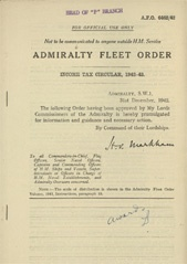 Admiralty Fleet Orders 1942 - 6462