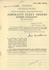 Admiralty Fleet Orders 1945 - 6486-6531