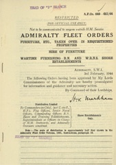Admiralty Fleet Orders 1944 - 649-651