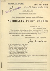 Admiralty Fleet Orders 1944 - 6505-6649