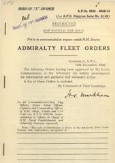 Admiralty Fleet Orders 1944 - 6505-6649