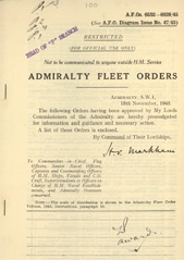 Admiralty Fleet Orders 1945 - 6532-6629
