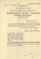 Admiralty Fleet Orders 1945 - 6630-6670