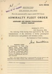 Admiralty Fleet Orders 1944 - 6650