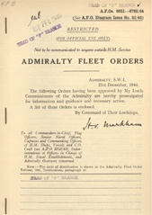 Admiralty Fleet Orders 1944 - 6651-6782