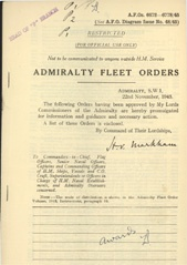 Admiralty Fleet Orders 1945 - 6672-6778