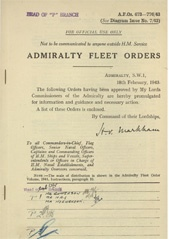 Admiralty Fleet Orders 1943 - 673-776
