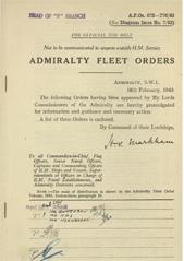 Admiralty Fleet Orders 1943 - 673-776