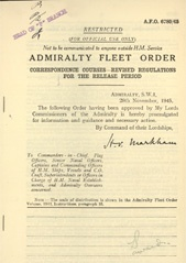 Admiralty Fleet Orders 1945 - 6780