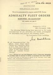 Admiralty Fleet Orders 1945 - 6783-6826