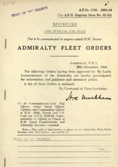 Admiralty Fleet Orders 1944 - 6784-6894