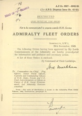 Admiralty Fleet Orders 1945 - 6827-6945