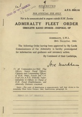Admiralty Fleet Orders 1944 - 6895
