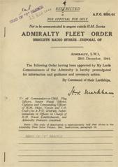 Admiralty Fleet Orders 1944 - 6895