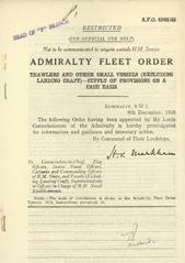 Admiralty Fleet Orders 1945 - 6946