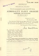 Admiralty Fleet Orders 1945 - 6947-7001